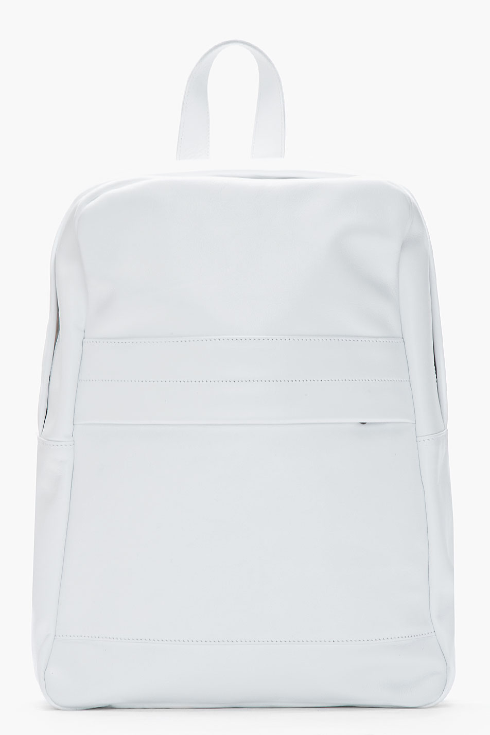 Common Projects White Classic Leather Backpack In White