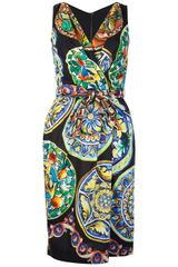 Dolce & Gabbana Printed Wrap Dress - Lyst
