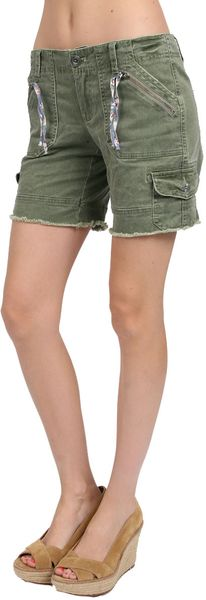 Free People Longer Cargo Shorts in Martini - Lyst