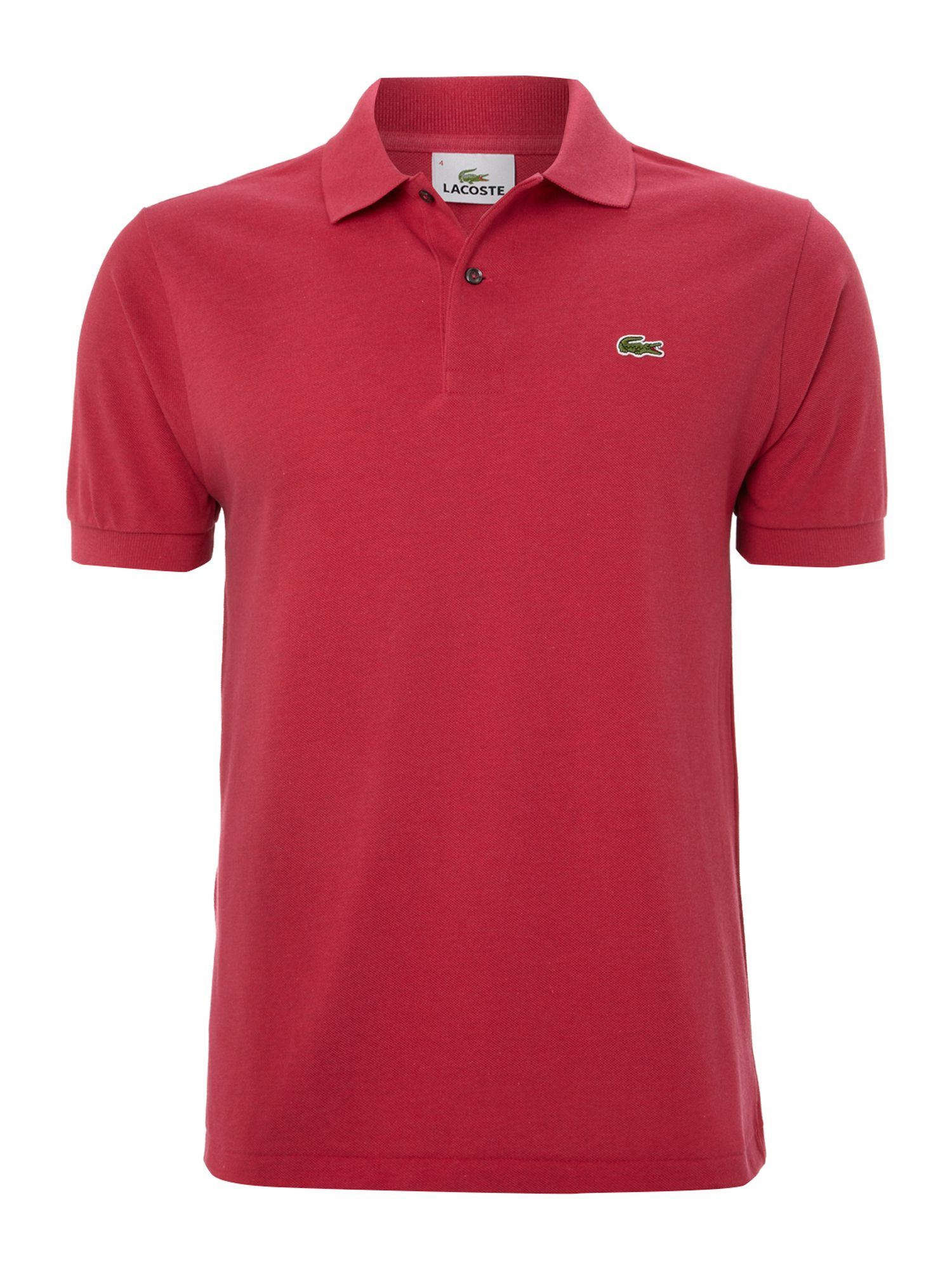 Lacoste Classic Marl Polo Shirt in Pink for Men | Lyst