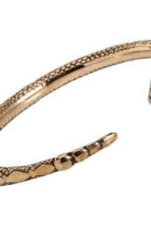 Pamela Love Bronze Serpent Bangle - Lyst