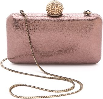 Serpui Marie Metallic Leather Minaudiere - Lyst