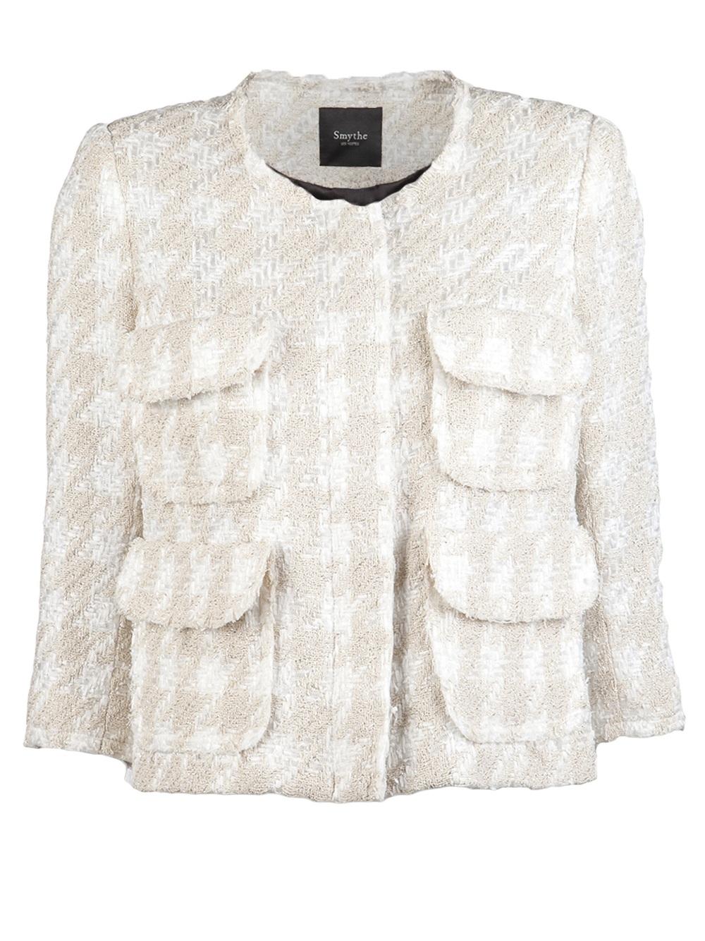 Smythe boucle jacket in white for Smythe designer