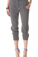 Tibi Stripe Pleated Pants - Lyst