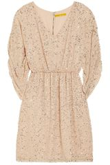 Alice + Olivia Olympia Sequined Silkchiffon Dress - Lyst
