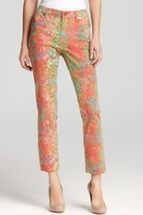 Anne Klein Abstract Snake Print Jeans - Lyst