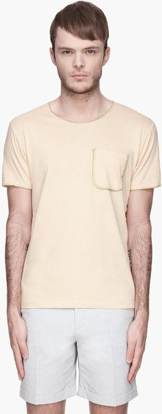 Carven Crossstitched T-Shirt - Lyst