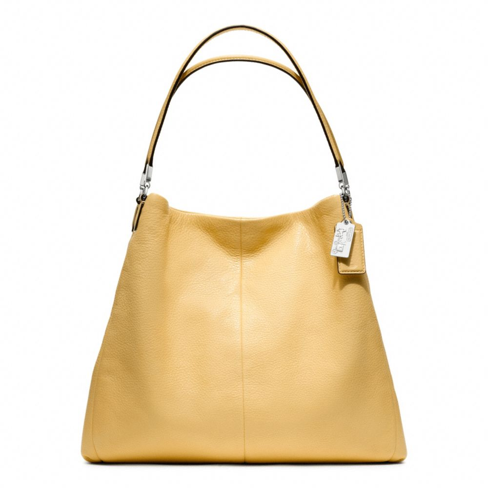 09f36c6716 ... clearance lyst coach madison leather phoebe shoulder bag in yellow  2f18e d026e