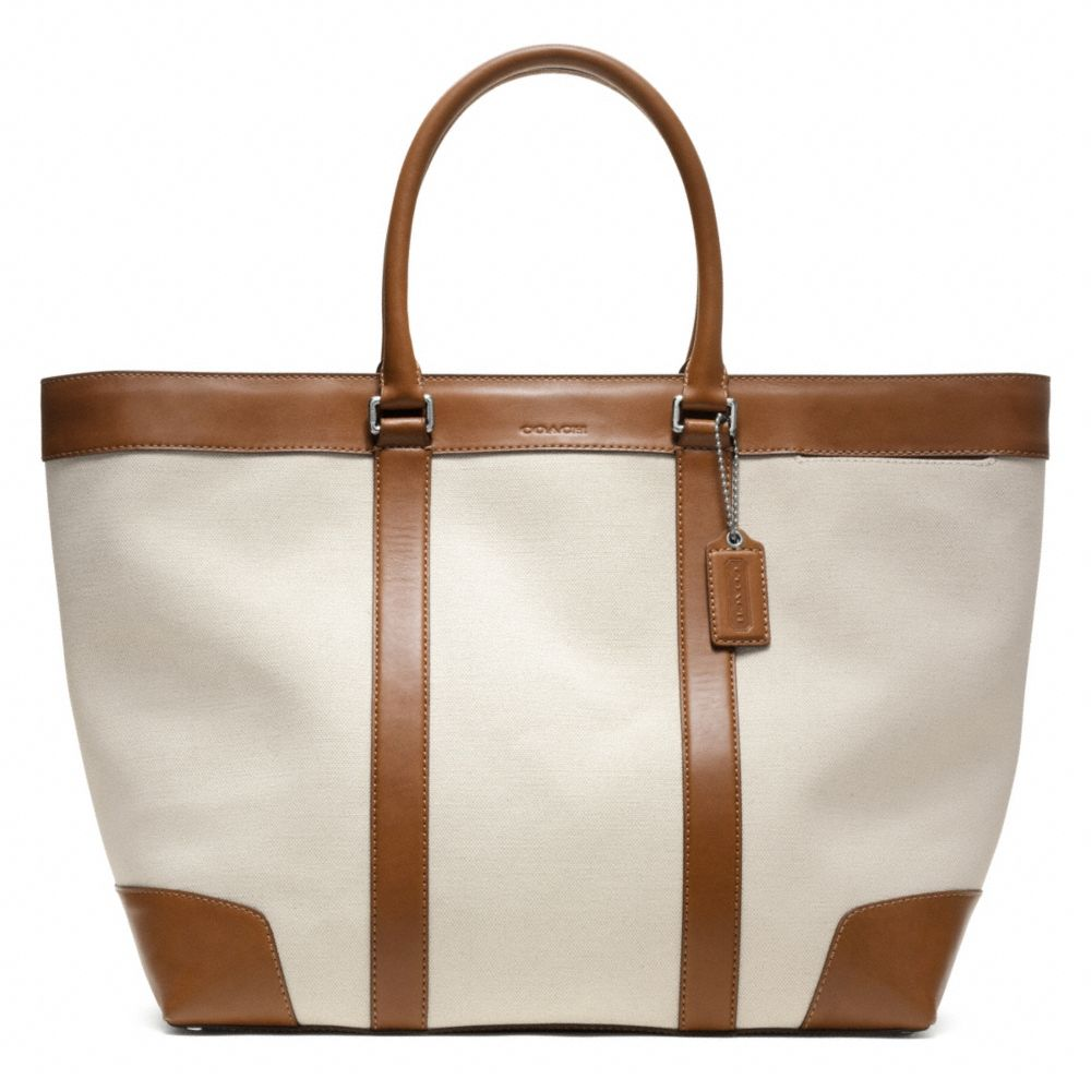 f3502b887ba8 ... official lyst coach bleecker city canvas weekend tote in brown 599ad  bc95f ...
