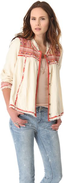Free People Trapeze Prairie Jacket - Lyst