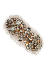 Jennifer Behr Swarovski Crystal and Silkchiffon Hairclip - Lyst