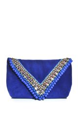 Matthew Williamson Embellished Suede Envelope Clutch - Lyst