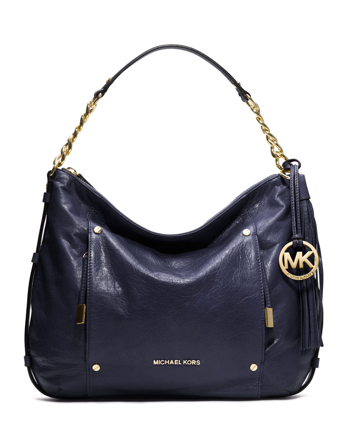 michael michael kors large devon shoulder bag in blue. Black Bedroom Furniture Sets. Home Design Ideas