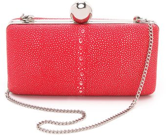 Milly Madison Shagreen Minaudiere - Lyst