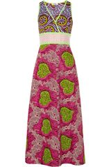 Moschino Cheap & Chic Printed Cotton Maxi Dress - Lyst