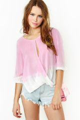 Nasty Gal Soft Candy Blouse - Lyst