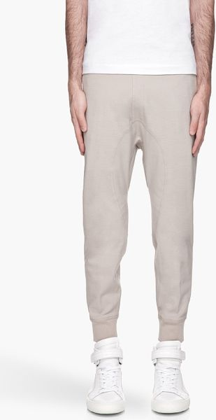 Neil Barrett Pale Taupe Skinny Fit Elasticized Track Pants - Lyst
