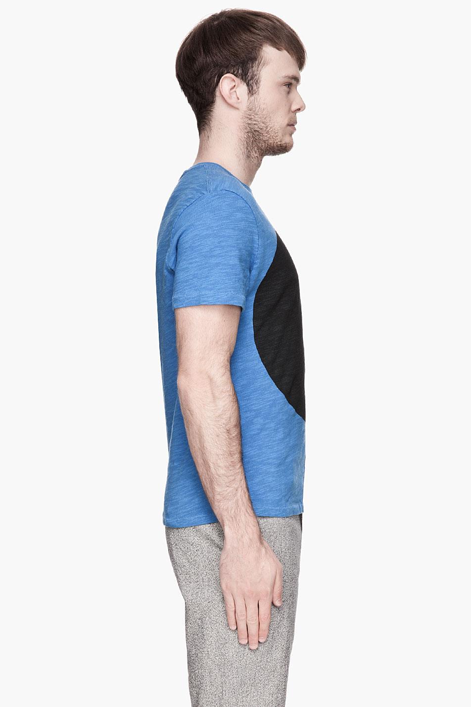 Rag Bone Circle Pocket T Shirt In Blue For Men Lyst