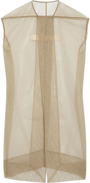 Rick Owens Plain Mantle Mesh Jacket - Lyst