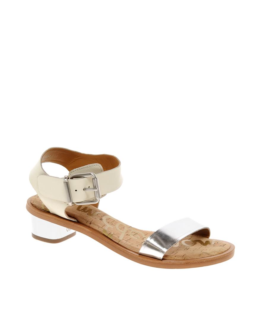 600c6cefc Lyst - Sam Edelman Trina Heeled Sandals in Metallic