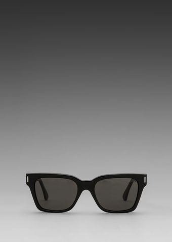 Super America Sunglasses in Black Silver Metal Black - Lyst