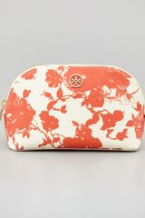 Tory Burch Robinson Floralprint Cosmetic Case - Lyst