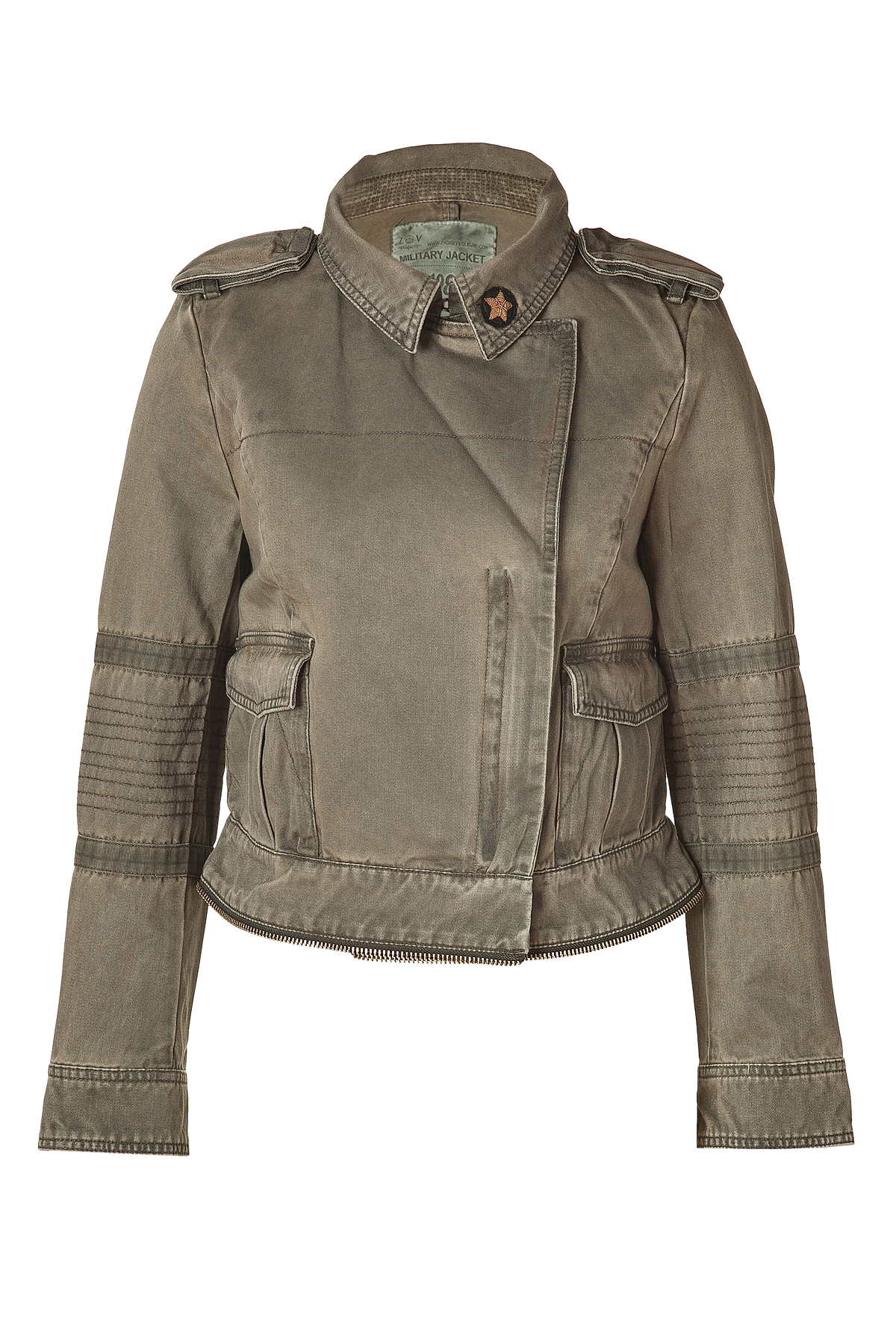 Zadig Amp Voltaire Army Green Cotton Jacket In Green Lyst
