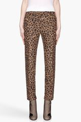 3.1 Phillip Lim Tan and Black Leopard Print Cropped Pencil Trouser - Lyst