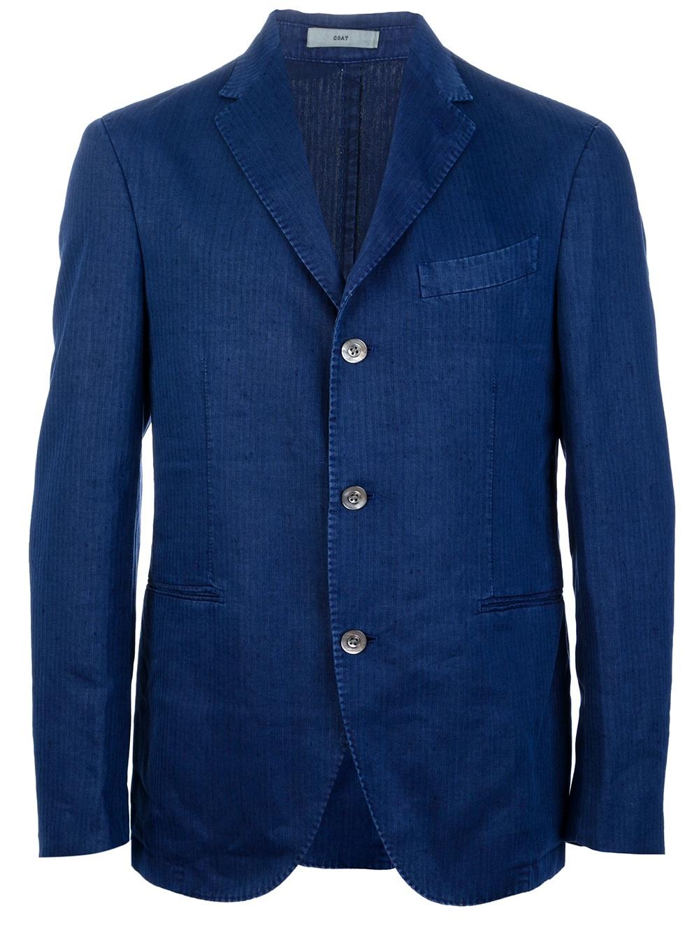 Boglioli Pinstripe Suit in Blue for Men