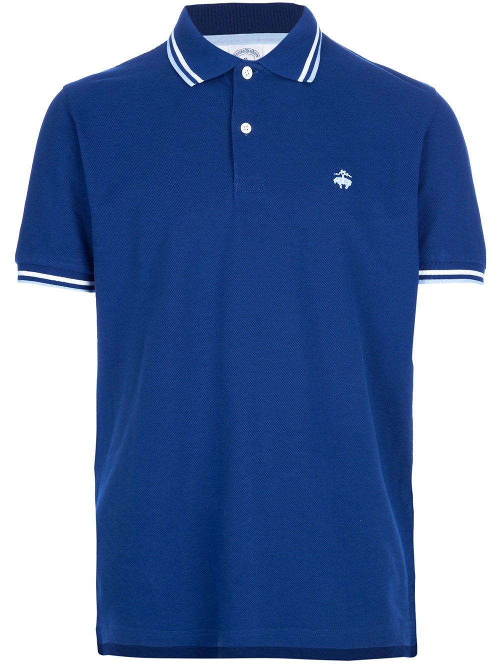 Brooks brothers classic polo shirt in blue for men navy for Brooks brothers shirt size guide