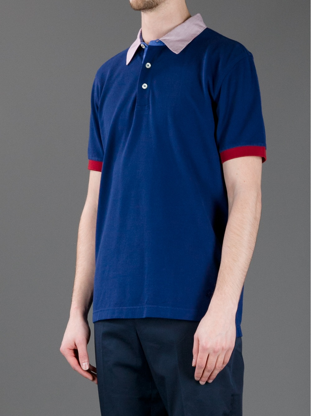 Brooks brothers classic polo shirt in blue for men navy Brooks brothers shirt size guide