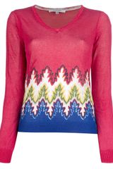 Carven V-Neck Sweater - Lyst