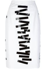 Christopher Kane Tape Pencil Skirt - Lyst