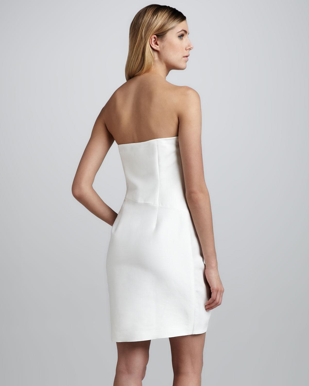 Ruffle Strapless Dress