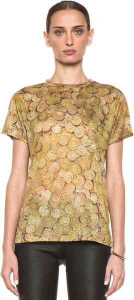 Jeremy Scott Tee in Coin - Lyst