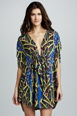 Mara Hoffman Printed Drawstring Poncho Cover-Up - Lyst