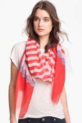 Nine West Nautical Stripe Scarf - Lyst