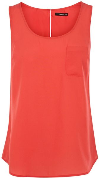Oasis Plain Pocket Vest - Lyst