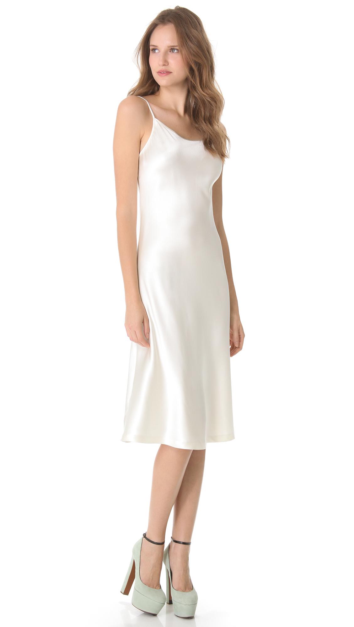 Lyst Rochas Silk Sleeveless Dress In White
