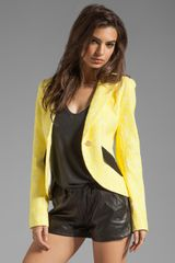 Smythe Lace Blazer in Lemon - Lyst