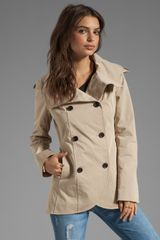 Soia & Kyo Benetta Trench Jacket in Sand - Lyst