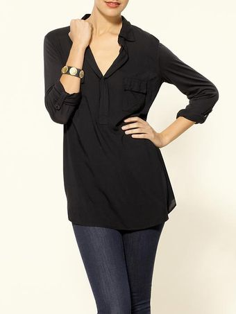 Splendid Always Shirting Pocket Tunic - Lyst