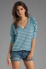 Splendid Miami Stripe V Neck - Lyst