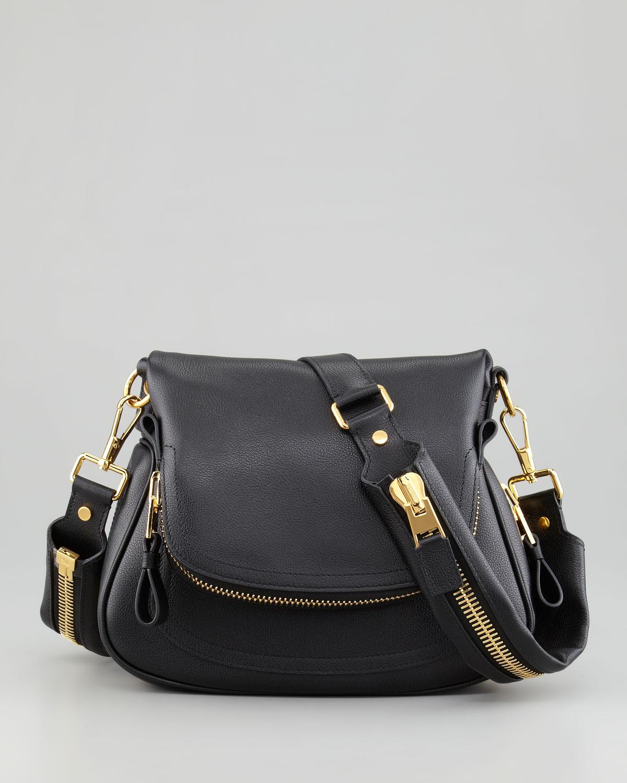 tom ford jennifer medium flaptop messenger bag black in. Black Bedroom Furniture Sets. Home Design Ideas