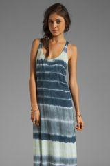 Velvet X Lily Aldridge Laura Tie Dye Maxi Dress in Aquamarine - Lyst