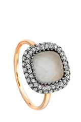 Astley Clarke Grey Aquamarine Connie Ring - Lyst