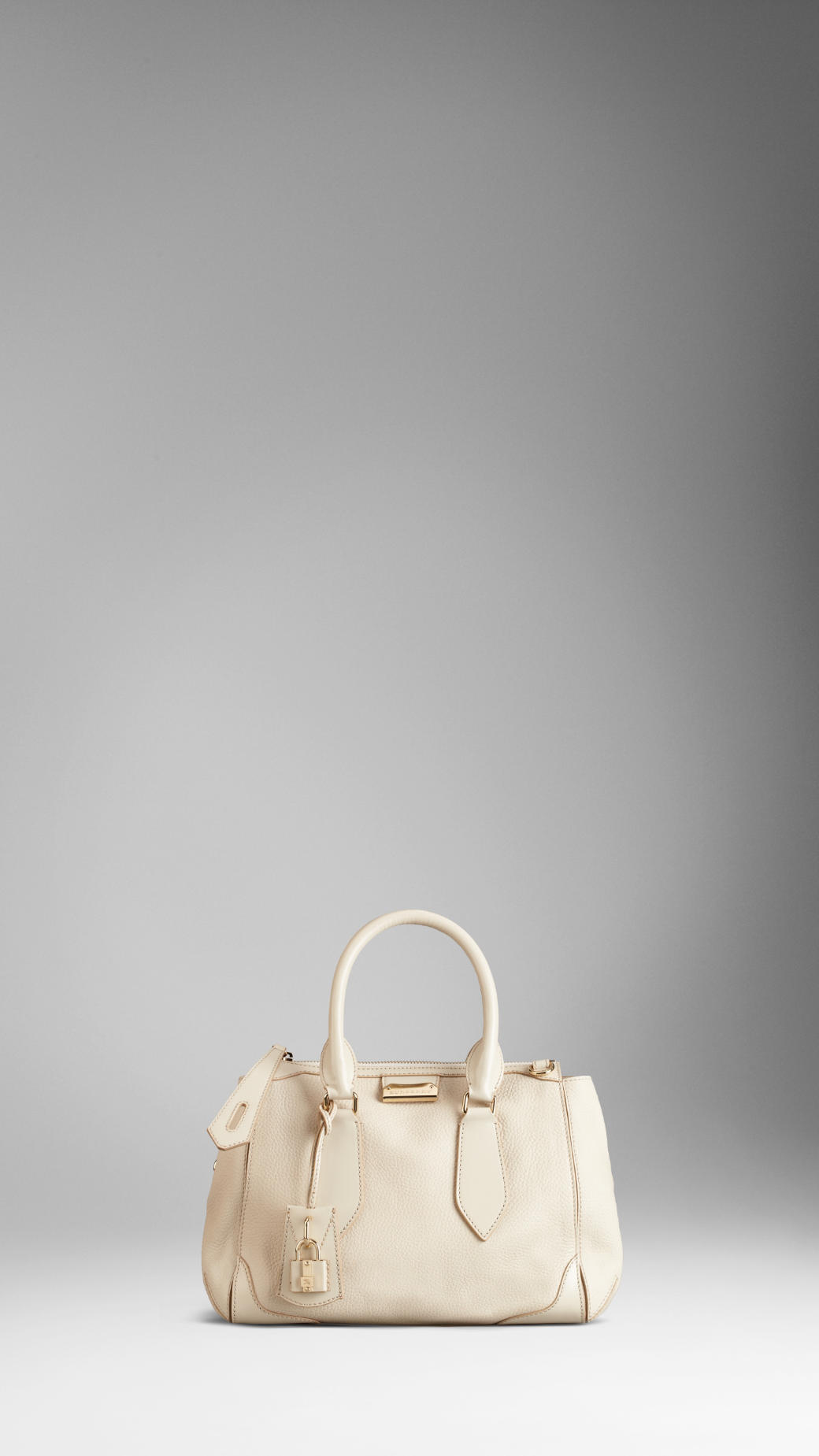 4497154cef170 Lyst - Burberry Small London Leather Tote Bag in Natural