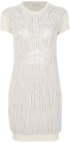 Carven Appliqué Rope Dress - Lyst