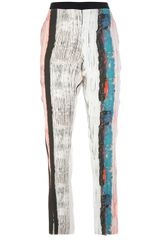 Cedric Charlier Painterly Effect Print Trouser - Lyst
