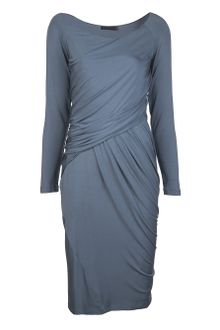 Donna Karan New York Draped Dress - Lyst